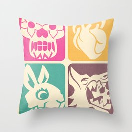 FEEDING GROUND 4 Icons Throw Pillow