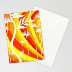 Orange and White Plant Stationery Cards