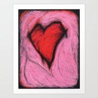 teenaged love Art Print