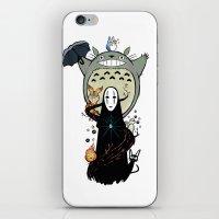 ghibli iPhone & iPod Skins featuring Ghibli by AlexisMorand