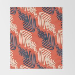 Orange Palms Throw Blanket