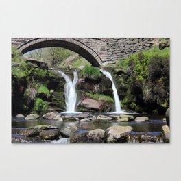 Three Shires Head Waterfall Canvas Print