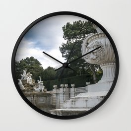 Neptune Fountain in the Schönbrunn Palace Park Vienna Austria Wall Clock
