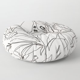 Charcoal Tropics Floor Pillow