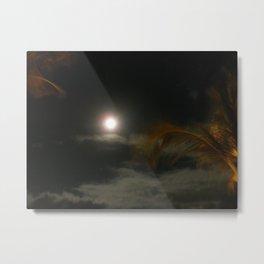 Blury Maui Moon Metal Print