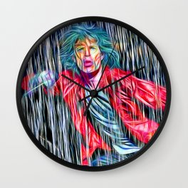 Singing in the Rain The Stones Wall Clock