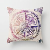 ornate Throw Pillows featuring Voyager II by Jenndalyn