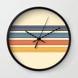 Kenshin - Classic Old School Retro Stripes Wall Clock