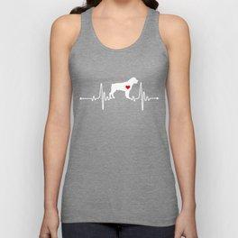 Rottweiler dog heartbeat Unisex Tank Top