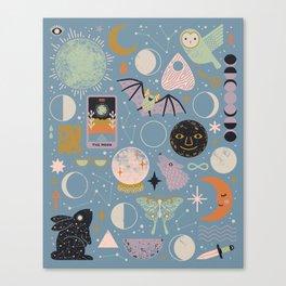 Lunar Pattern: Blue Moon Canvas Print