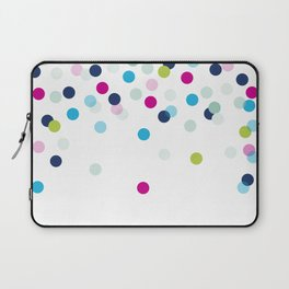 CUTE CONFETTI SPOTS - bright colorful - pink, aqua blue, mint, navy Laptop Sleeve
