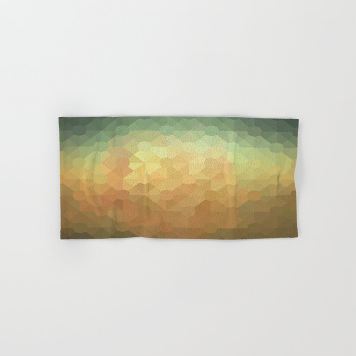 Nature's Glowing Geometric Abstract Hand & Bath Towel
