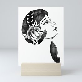 Traditional tatto gypsy girl Mini Art Print