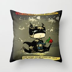 Bad Bat-lentines Throw Pillow