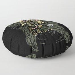 Gas Mask Gangsta Floor Pillow