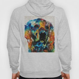 Colorful Dog Art - Heart And Soul - By Sharon Cummings Hoody