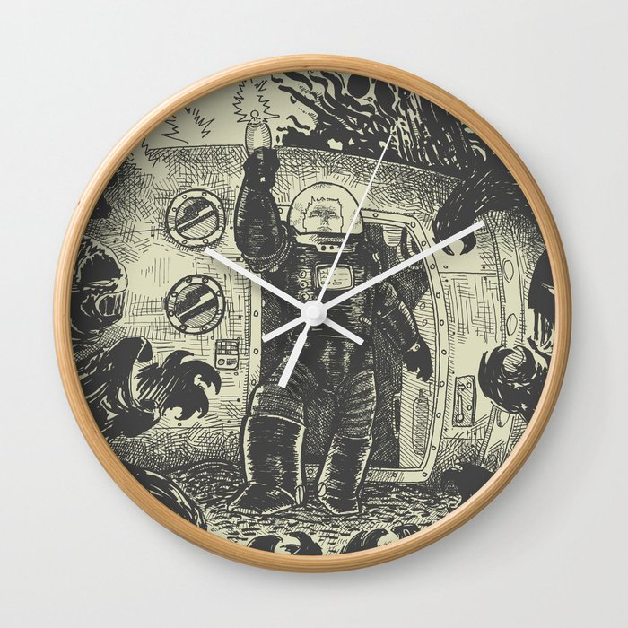 Space slugs die easy Wall Clock