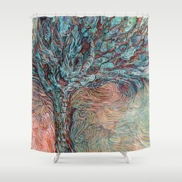 Midnight at the Wishing Tree Shower Curtain
