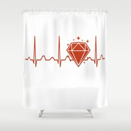 Jeweler Heartbeat Shower Curtain