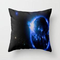 Blue Galaxy Star Throw Pillow