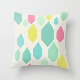 Diamond Shower II Throw Pillow