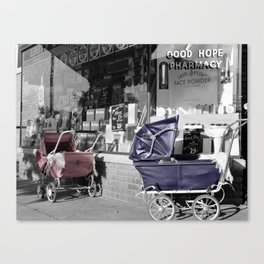 Vintage Baby Strollers Canvas Print