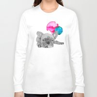 french bulldog Long Sleeve T-shirts featuring French Bulldog  by Olivia James