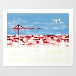 Retrato do Ceu de Lisboa Art Print