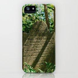 Charleston Unitarian Church Cemetery VII iPhone Case