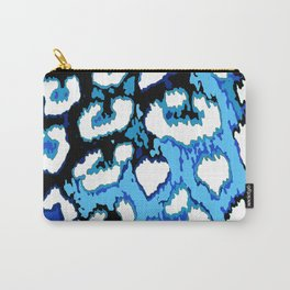 Black and Blue Leopard Spots Carry-All Pouch