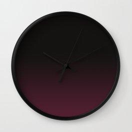 Faded Burgundy Wall Clock