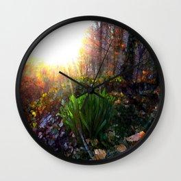 'Sun Awakening Sleeping Daffodils' Wall Clock