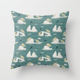 Go North Throw Pillow