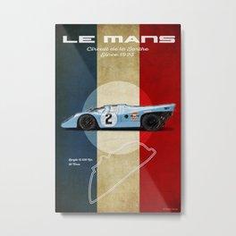 Le Mans Racetrack Vintage Metal Print