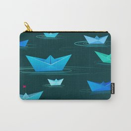 Origami paper boats Carry-All Pouch