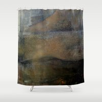 imagerybydianna Shower Curtains featuring shatter by Imagery by dianna
