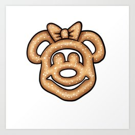 Minnie Mouse Pretzel Art Print