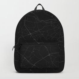 Black on Grey Dublin Street Map Backpack