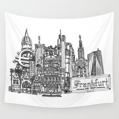 Busy City – Frankfurt am Main Wall Tapestry