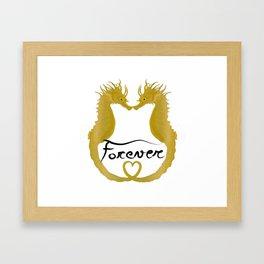 Love Horse Fish Forever Framed Art Print
