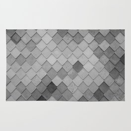 Fifty Gray Shades of Tiles (Black and White) Rug