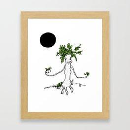 black moon Framed Art Print