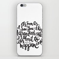 font iPhone & iPod Skins featuring grand adventure by Matthew Taylor Wilson