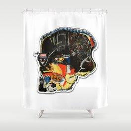 Skull: Homage to Basquiat Shower Curtain