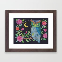Orlie Owl's Night Garden Framed Art Print