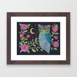 Orlie Owl's Night Garden Framed Art Print