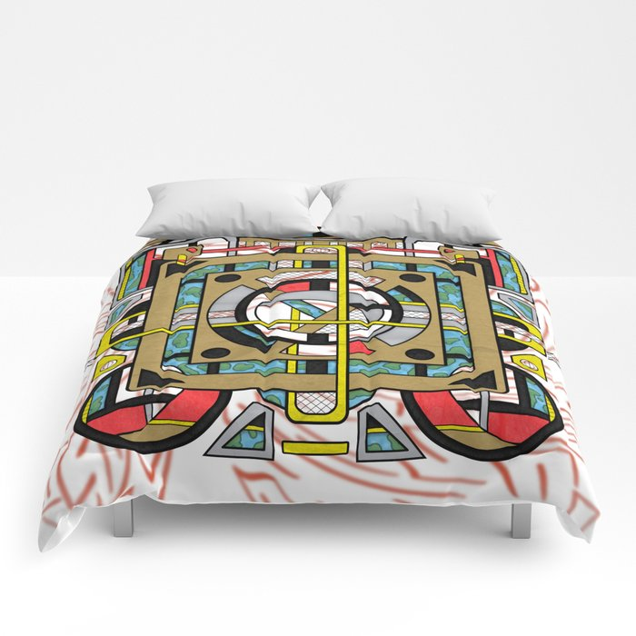 Switchplate - Surreal Geometric Abstract Expressionism Comforters