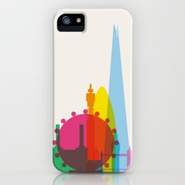 Shapes of London. Accurate to scale iPhone Case
