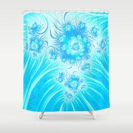 Abstract Christmas Ice Garden Shower Curtain