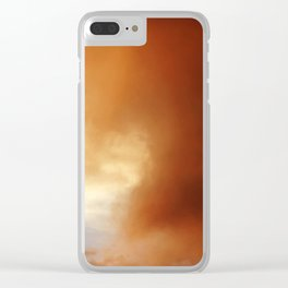 wildfire sunset Clear iPhone Case